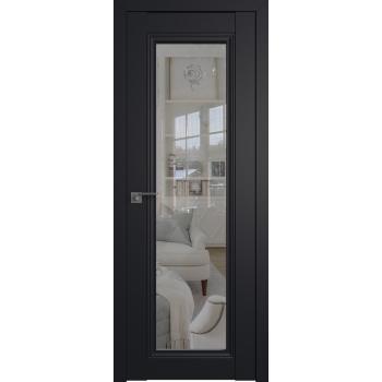 Межкомнатная дверь ProfilDoors 2.101U матовое, прозрачное Черный матовый