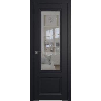 Межкомнатная дверь ProfilDoors 2.103U матовое, прозрачное Черный матовый