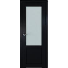 Межкомнатная дверь ProfilDoors 2.17U Square матовое, матовое, прозрачное Черный матовый