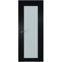 Межкомнатная дверь ProfilDoors 2.19U Square матовое, матовое, прозрачное Черный матовый