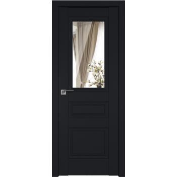 Межкомнатная дверь ProfilDoors 2.39U матовое, прозрачное Черный матовый