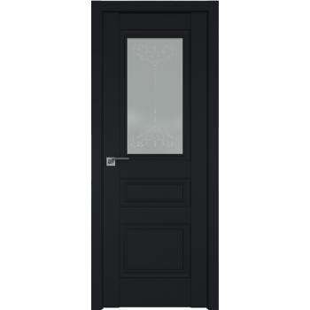 Межкомнатная дверь ProfilDoors 2.39U Франческо кристалл, графит Черный матовый