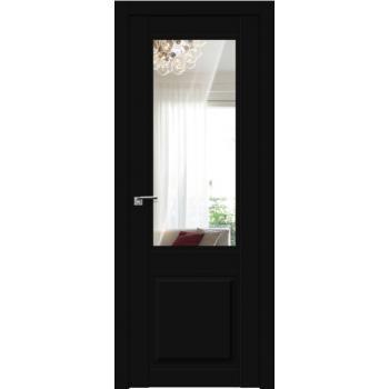 Межкомнатная дверь ProfilDoors 2.42U матовое, прозрачное Черный матовый