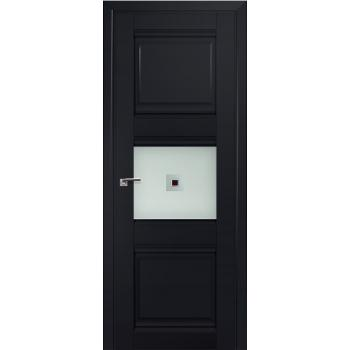 Межкомнатная дверь ProfilDoors 5U Черный матовый Узор матовое с прозрачным фьюзингом (квадрат)