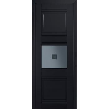 Межкомнатная дверь ProfilDoors 5U Черный матовый Узор графит с прозрачным фьюзингом (квадрат)