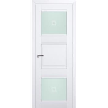 Межкомнатная дверь ProfilDoors 6U Аляска Узор матовое с прозрачным фьюзингом (квадрат)