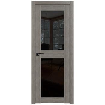 Межкомнатная дверь ProfilDoors 2.44X триплекс черный, триплекс белый
