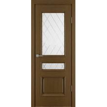 Межкомнатная дверь Юркас шпон Вена ДО матовое с фр.№27