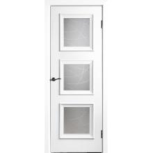 Межкомнатная дверь Юркас шпон Квадро-4 ДО матовое с фр.№10