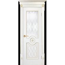 Межкомнатная дверь Юркас шпон Флоренция-3 ДО матовое с фрез.№40