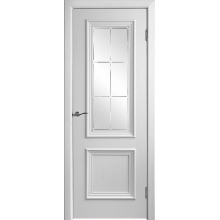 Межкомнатная дверь Юркас шпон Валенсия-4 ДО матовое с фр №23