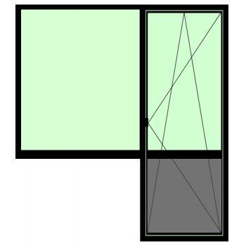 Балконная группа BRUSBOX Aero (60мм) 1500*2100