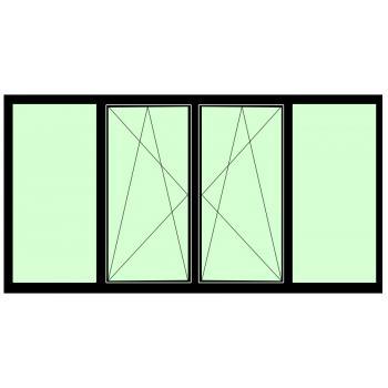 Окно BRUSBOX Aero (60мм) 1100*1900