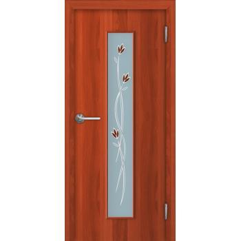 Межкомнатная дверь Unidoors Standart Т2 итальянский орех / миланский орех фьюзинг