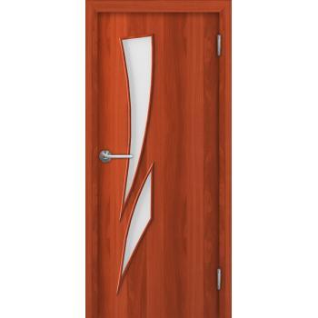 Межкомнатная дверь Unidoors Standart С8 итальянский орех / миланский орех